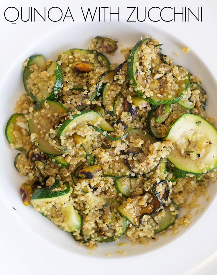 Quinoa with Zucchini and Pistachios