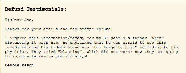 Article About the Best Kidney Stone Removal Report Review