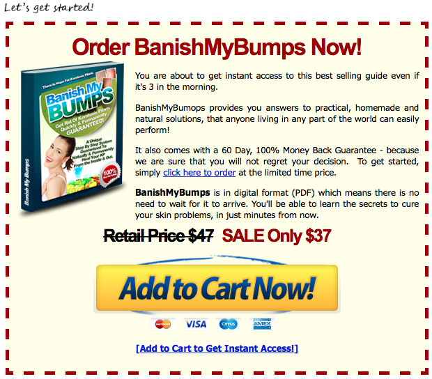 review article banish my bumps