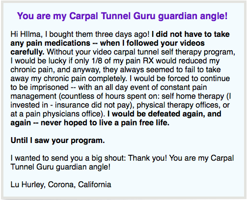 this is a testimonial of the Best Carpal Tunnel Master Review