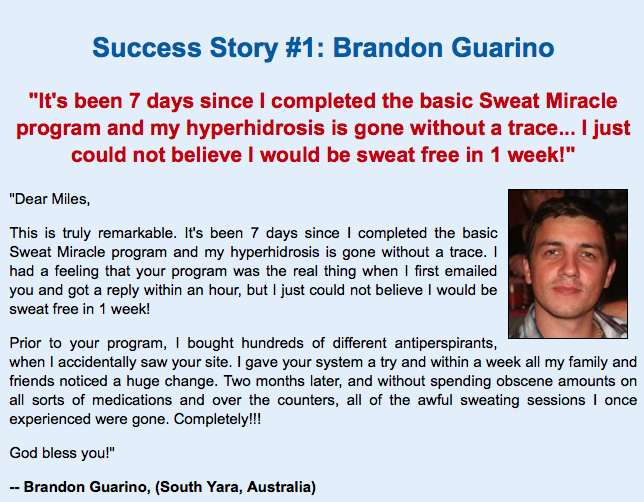 Best Sweat Miracle Review testimonial