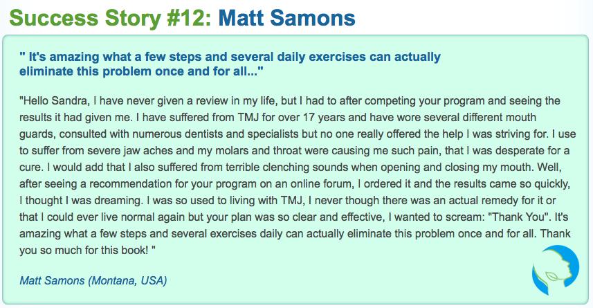 Best TMJ No More Review testimonial 2